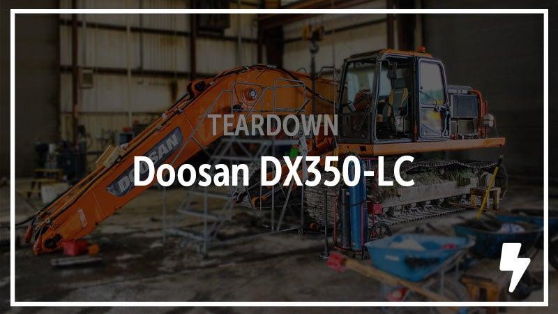 Doosan DX350L excavator.