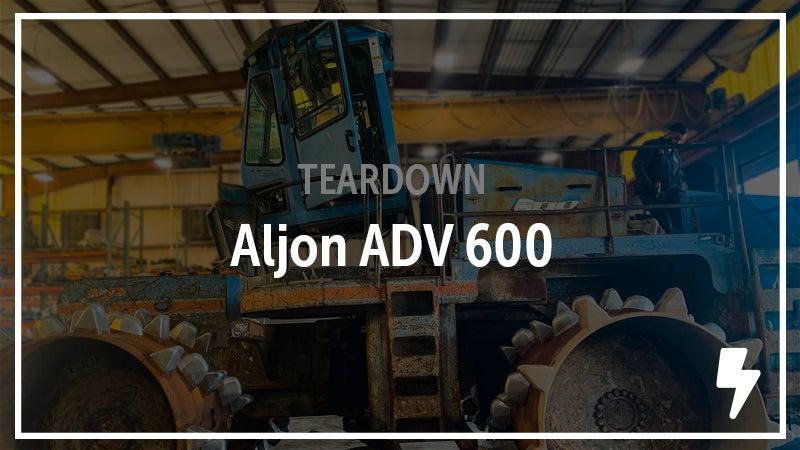 An Aljon ADV 600 compactor salvaged.
