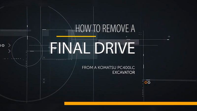 A title slides says How to Remove a Final Drive.