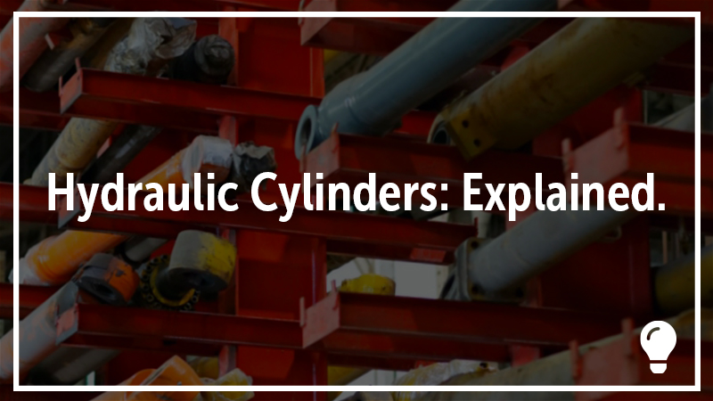 A tower of hydraulic cylinders.