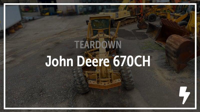 John Deere 670CH motor grader.