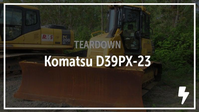 A Komatsu crawler tractor was recently salvaged.