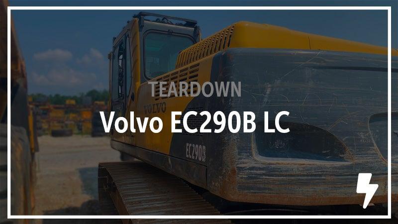 Volvo EC290B LC Excavator salvaged.