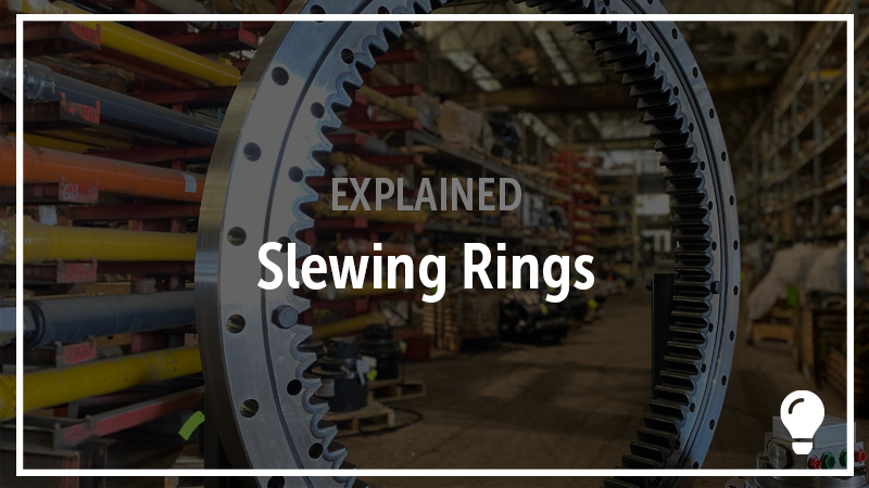 A slewing ring bearing in the H&R warehouse.
