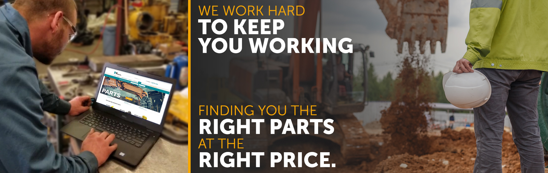 Banner for finding Heavy Equipment Parts