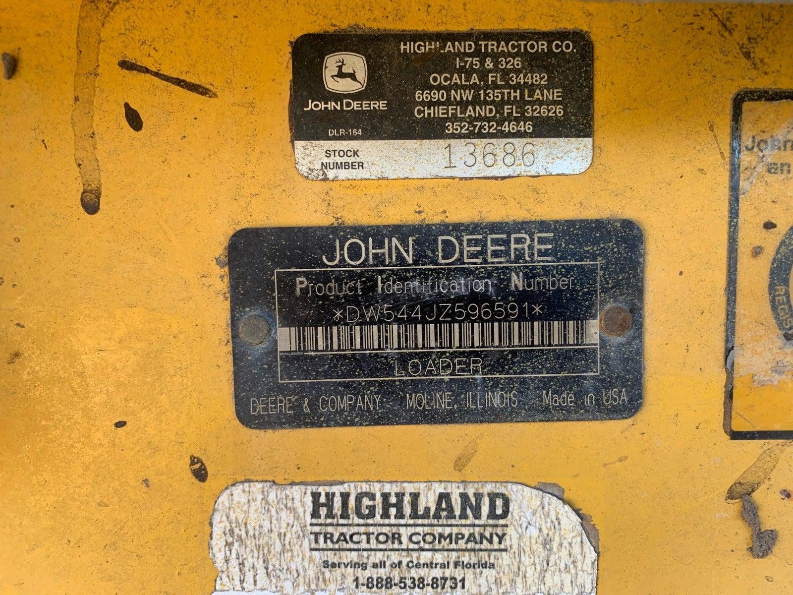 John Deere 544J dismantled machine photo 13